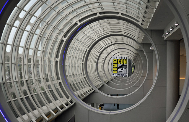 San Diego Comic Con logo at the Convention Center