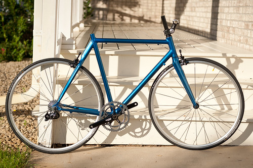 Blue Road Bike in Construction | by goingslowly