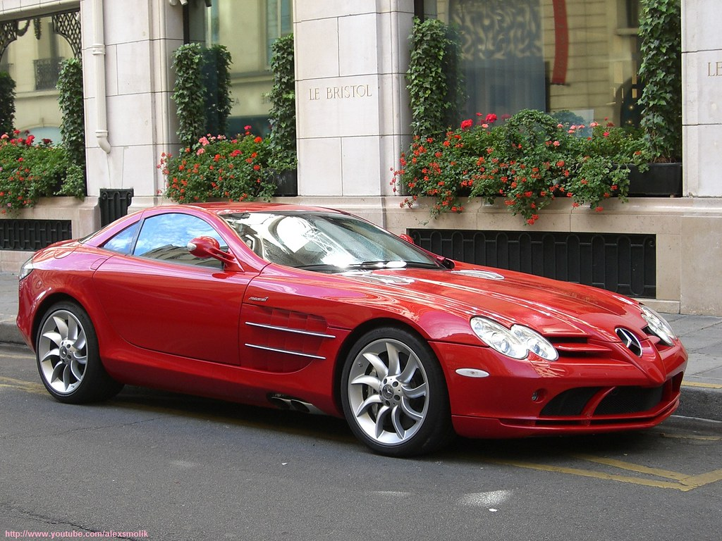 Red Mercedes Slr Old Shot Incredibly Beautiful Red