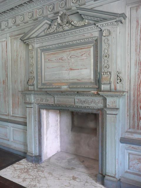 Drayton Hall, SC interior fireplace