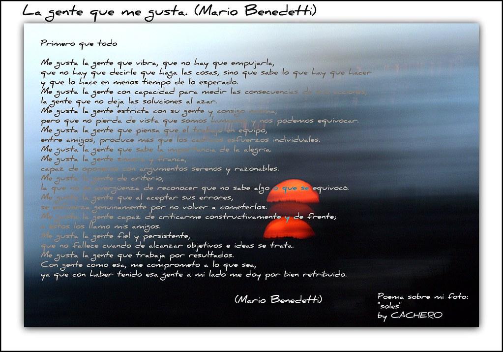 La Gente Que Me Gusta Mario Benedetti Poema Sobre Mi Fo