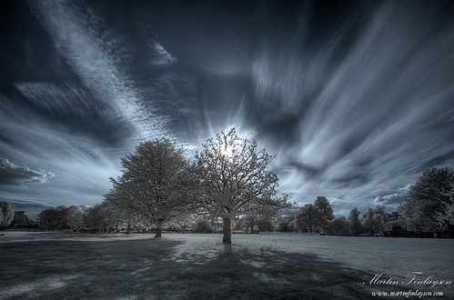 park trees sunset clouds ir nikon d70 great gimp infrared tamron hdr farnham photomatix 720nm 1024mm