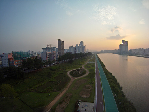 sunset kite brad river photography south levitation delta korea aerial kap ulsan slaney gopro taewha hdhero