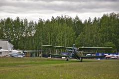 Kurkachi Airfield - An-2 taxiing