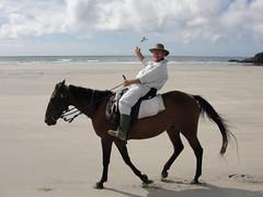 vr, 18/02/2011 - 05:38 - 086. Paul te paard op Wharariki Beach