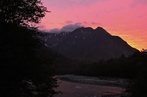 mountain japan sunrise matsumoto nagano kamikouti d7000