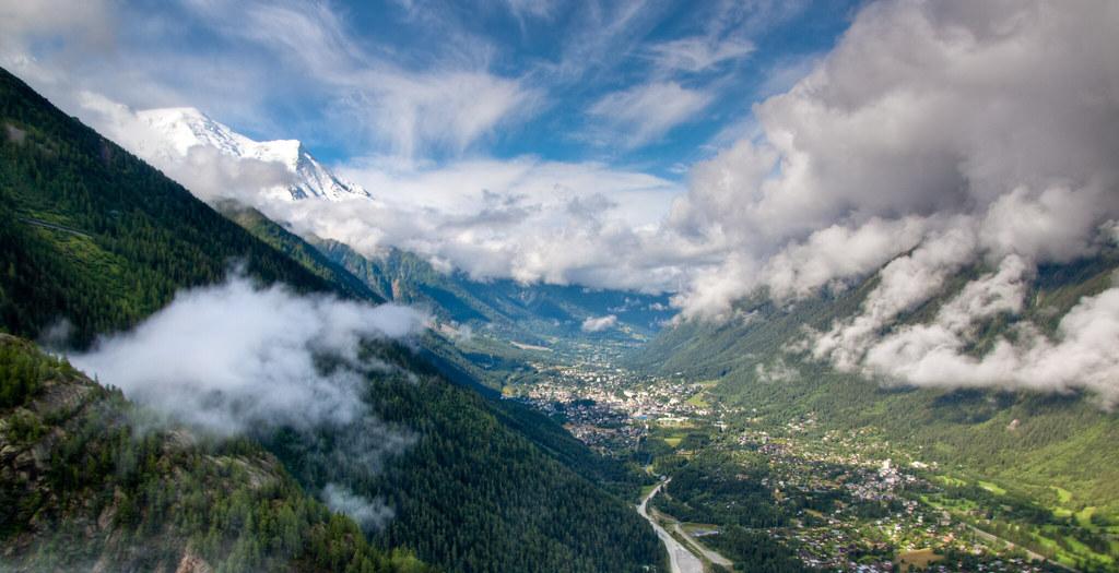 Chamonix valley and Mont Blanc