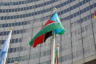 South Sudan's Flag Raised at the UN in Vienna