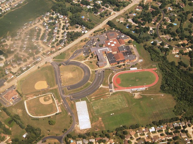 Aerial View of Francis Howell North High School - St. Charles, MO_P8025135