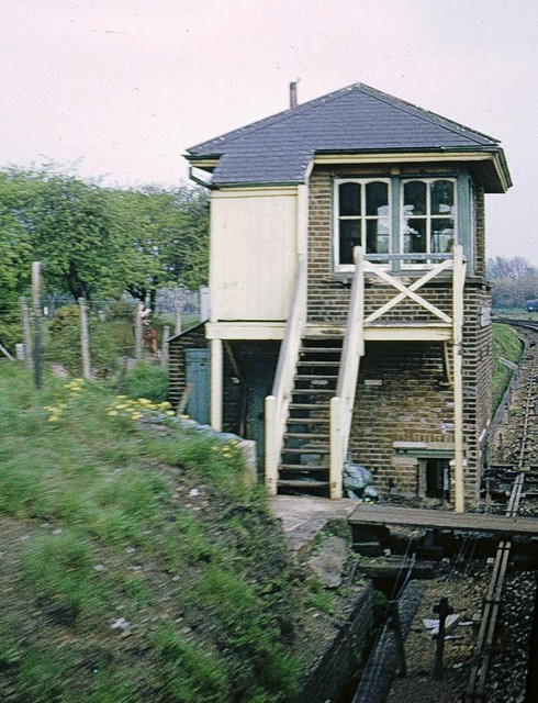 Fulwell Junction signalbox in 1974