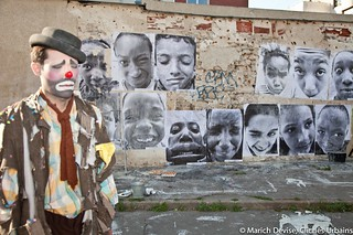 Everyone and the clown