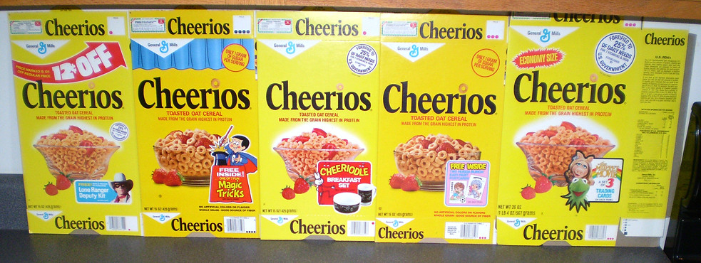 1978 General Mills Cheerios Cereal Boxes