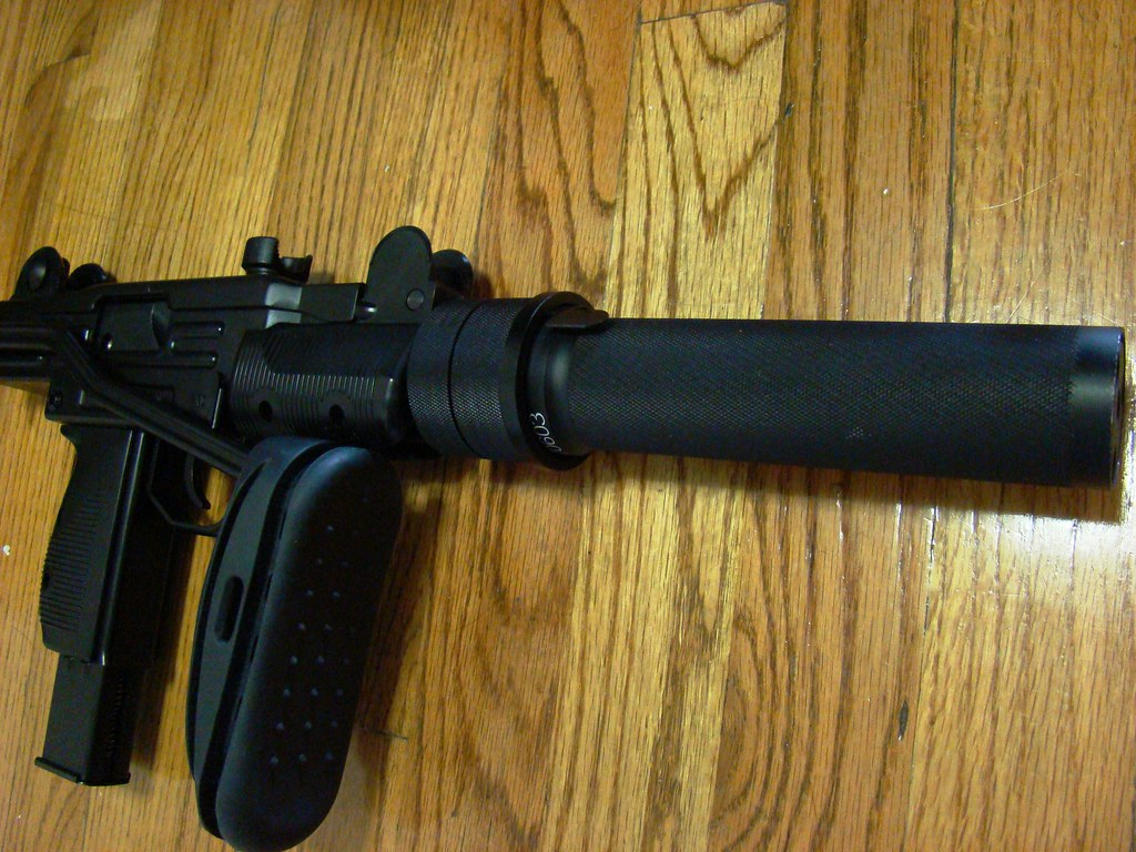 Mini UZI with PBS, and AK recoil/butt pad  | That metal stoc