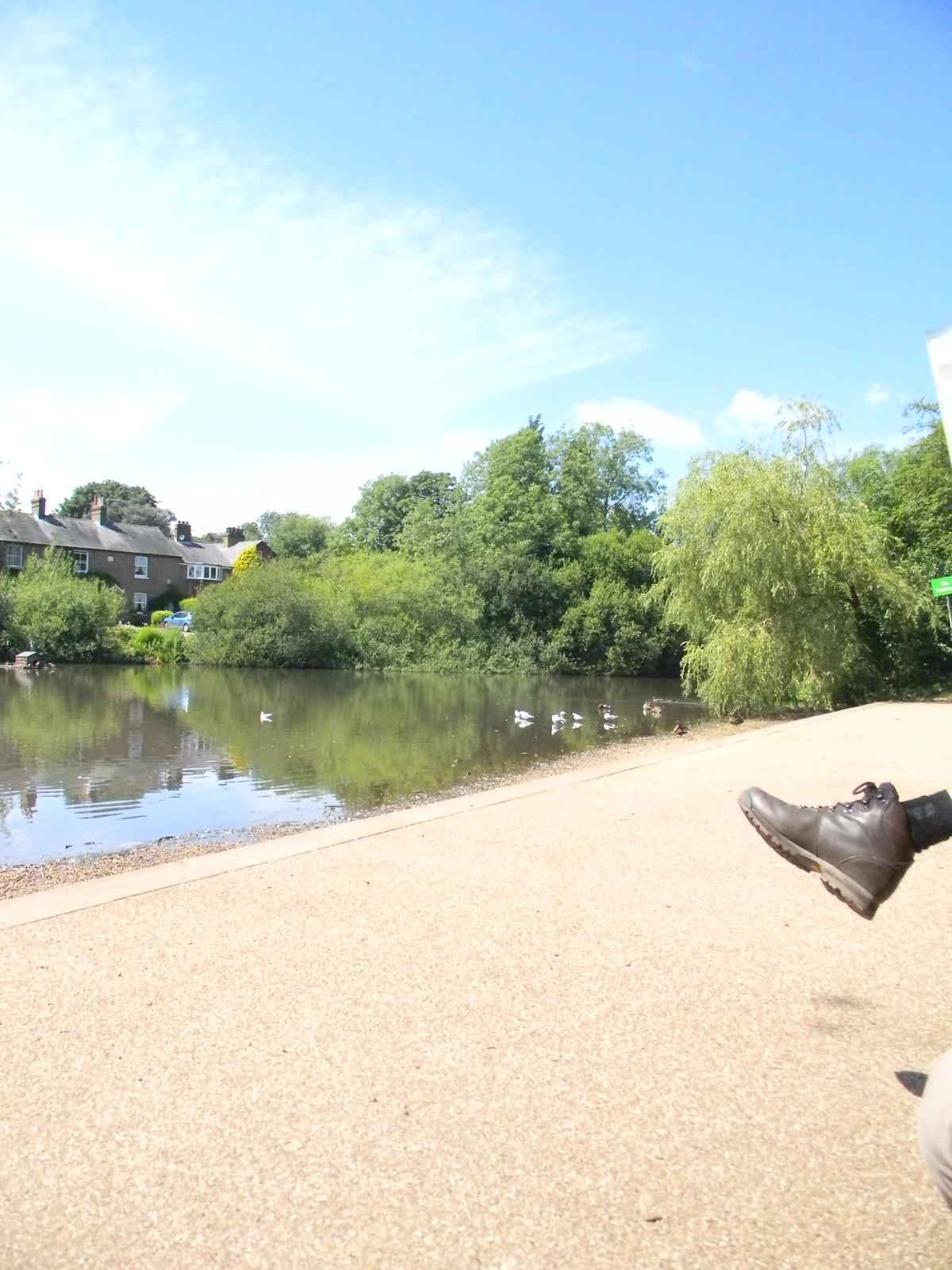 Mere pond With boot. Merstham to Tattenham Corner