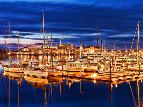 ocean city sea canada landscape bc pacific harbour yacht canadian vancouverisland bluehour hdr victoriabc nationalgeographic travelphotography