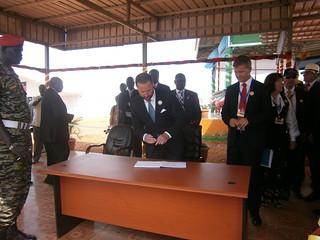 Kronprinsen på John Garang Memorial