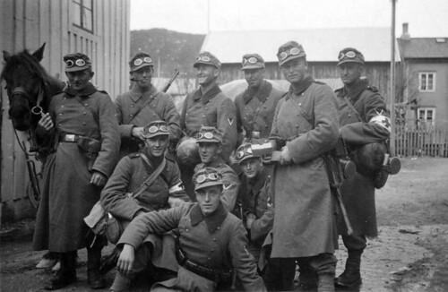 Bergjegere fra 6. Kompani i Mo i Rana, Otto Erlacher fremst