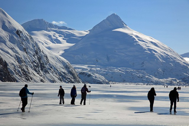 Adventurous people on Portage Lake