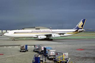 9V-SJM Airbus A340-313X Singapore Airlines SFO 22JAN99