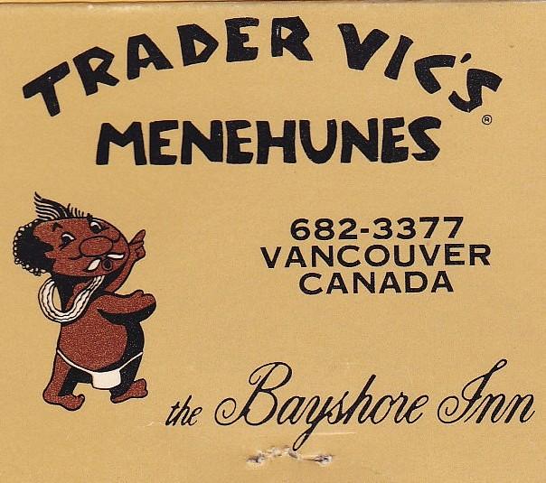 Trader Vic's Menehunes at the Bayshore Inn, Vancouver