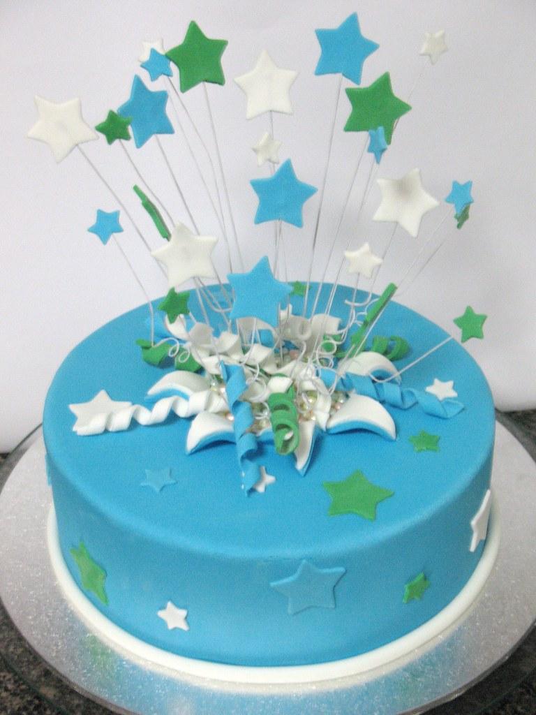 Exploding Stars Cake