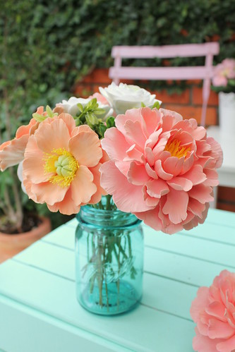 Soft clay peonies and poppies | by citrusandorange