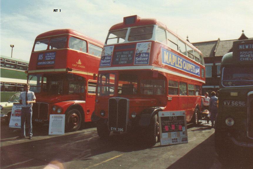RT 1, EYK 396, AEC Regent III, Park Royal Body, 1939 (t.1989)