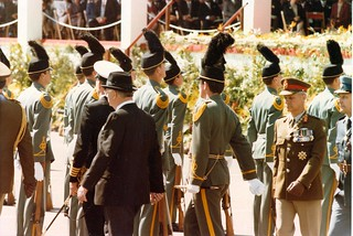 1984 PW Botha inspects the guard of honour