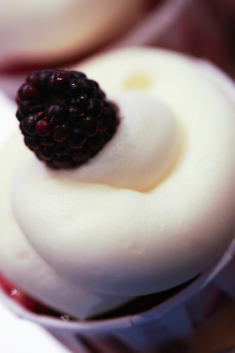 blackberry lemon cupcake | by chockylit
