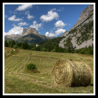 Rotoballe in Valle Stretta.