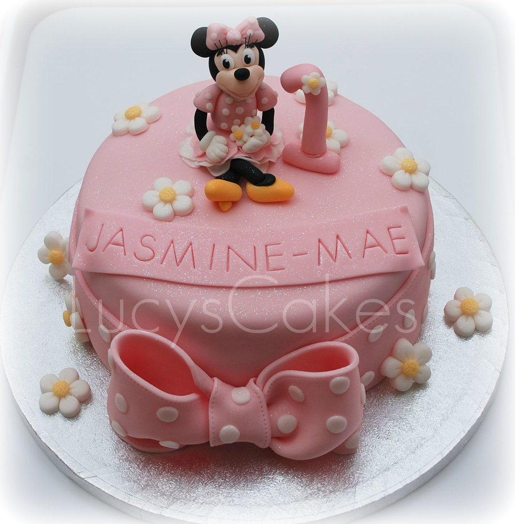 Fabulous Minnie Mouse 1St Birthday Cake Visit Me And Like My Facebo Flickr Personalised Birthday Cards Veneteletsinfo