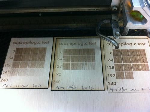 Epilog command line laser cutter test