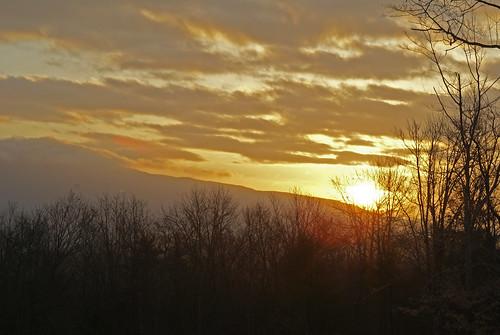 sunset mountains sunrise scenic