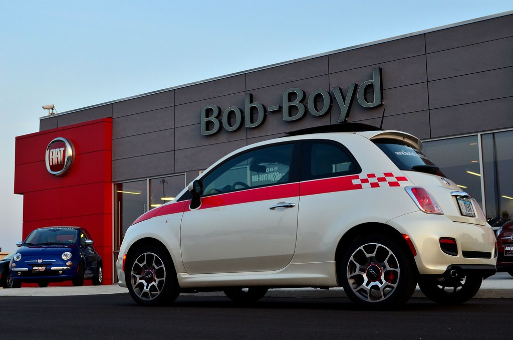 Bob Boyd Fiat Fiat 500 Sport With Racing Stripe Bianco Flickr