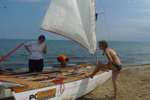 Travessa Alcanar-Calafell 2011. Sortida de la 2a etapa des de Riumar. 31 de juliol 2011.