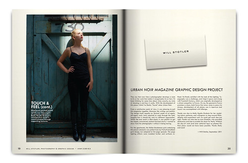 Urban Noir Magazine, Issue 1 - Pgs 19 & 20 | by willstotler