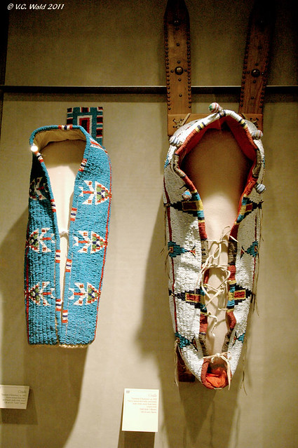 Plains Indian, Cheyenne beaded cradle boards: L, 1885; R. c. 1890