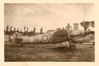 Messerschmitt Me109G-14 of the Croatian Air Force, captured by the R.A.F. in Jesi, Italy, 1945.