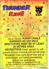 Black Cat Fireworks - Thunder King (spiked single shot air