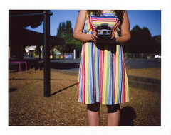 the girl with the rainbow dress by tiny abstraction