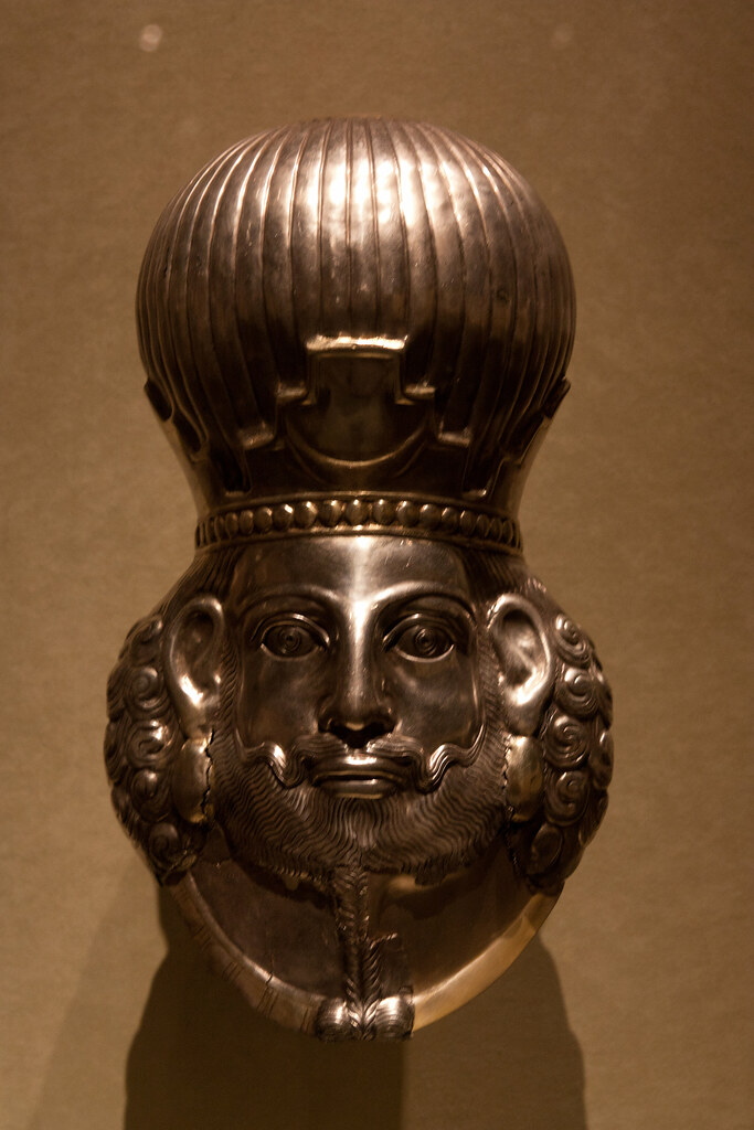 Gilded Silver, Sasanian period. 4th Century AD  The Metropolitan Museum allows photo shooting providing there is no financial gain.  Please respect their policy