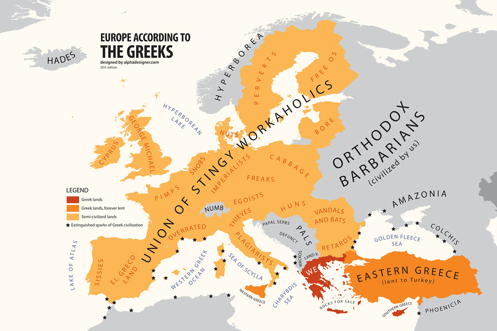 Europe According to Greece   Produced by AlphaDesigner\'s Pol ...