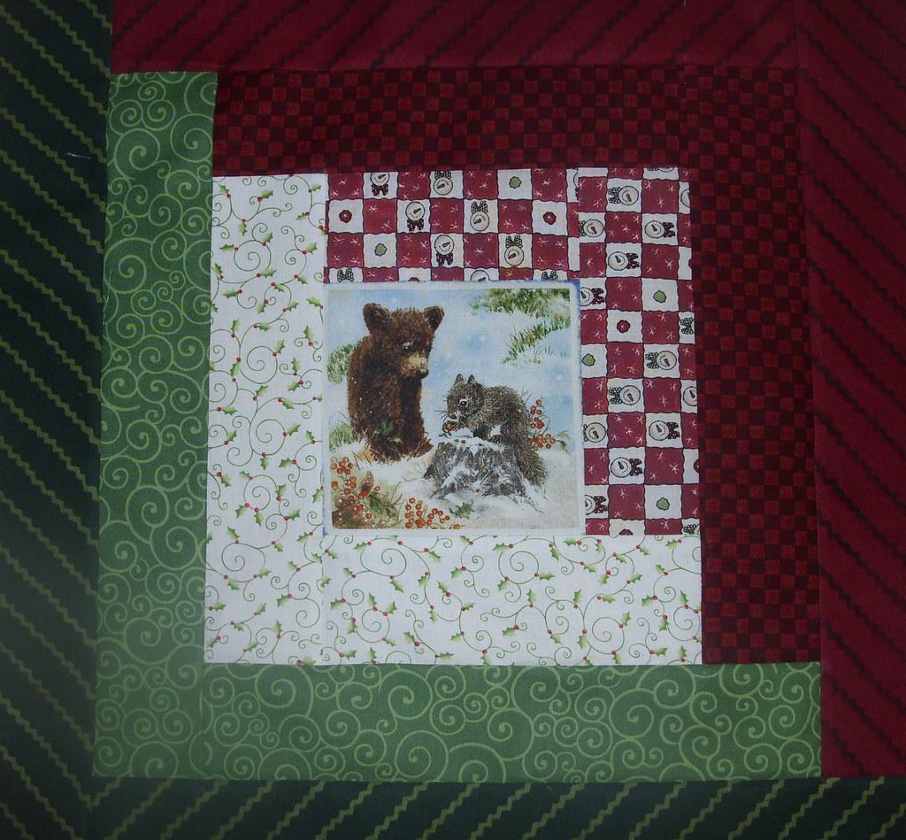 Log Cabin Christmas Quilt.Log Cabin Christmas Quilt Block Lindasgarden1 Flickr
