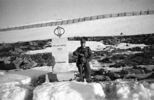 Soldat fra 6.Kompani ved Polarsirkelen