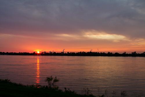 sunset mississippi mississippiriver