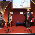 Innu Poetry from the Canadian Tundra | Three leading writers of the First Nation Innu people of Northern Canada joined two Quebecois poets for some powerful poetic performance at the Book Festival © Helen Jones