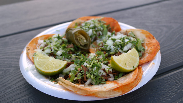 Birria Tacos from Taco King by Taqueria Jalisco Truck in Des Moines, Iowa