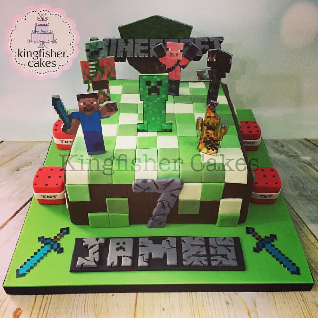 Wondrous One From Last Month A Minecraft Birthday Cake Boysbirthdaycake Funny Birthday Cards Online Eattedamsfinfo