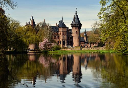 paysbas netherlands château castle nikon d800 dehaar lac lake canal reflet reflection hollande