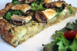 Broccoli and Mushroom Tart | by Abandon Spoon!